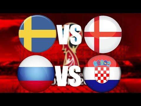 FIFA World Cup 2018 | ČTVRTFINÁLE | Švédsko - Anglie | Rusko - Chorvatsko | CZ/SK