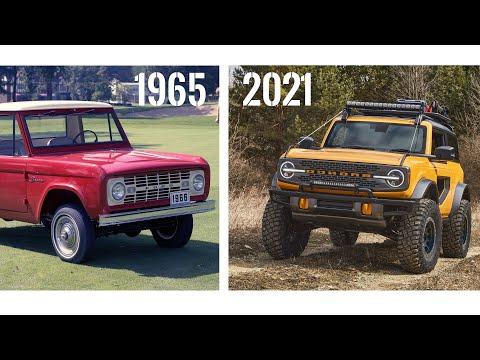 Ford Bronco Evolution (1965 - 2021)