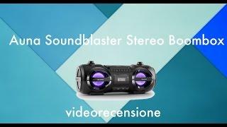 Auna Soundblaster Stereo Boombox. videorecensione.