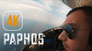 How I LOVE TO FLY! 4K VISUAL Approach and LANDING in PAPHOS, CYPRUS.