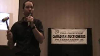 Dwayne Dunkle @ 2011 Alberta Auctioneers All Around Canadian Auctioneers Championship Lethbridge AB