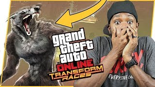 WOW! CRAZY WEREWOLF ON FOOT! - GTA Online Gameplay