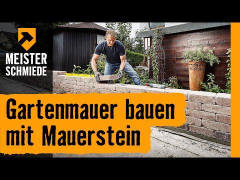 Gartenmauer bauen mit Mauersteinen | HORNBACH Meisterschmiede