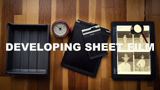 Developing Sheet Film