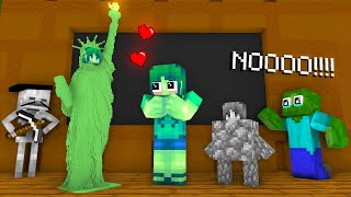 Monster School: Sculpting A GIRL - Minecraft Animation