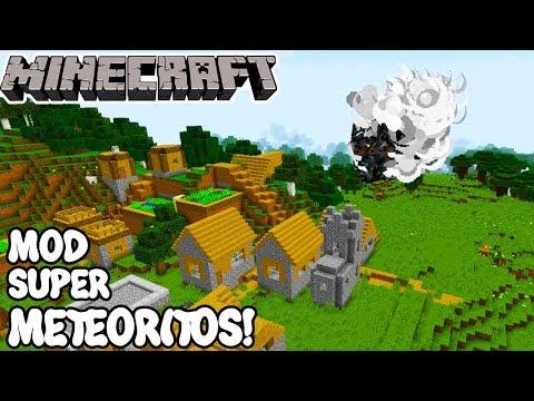 Minecraft 1.12.2 MOD SUPER METEORITO! JJ Meteor Mods Español!