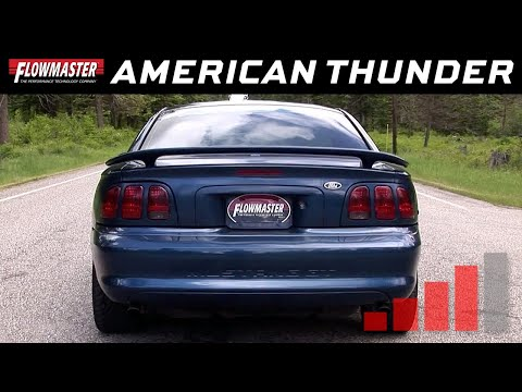 1998 Ford Mustang GT, Cobra 4.6L - American Thunder Cat-back Exhaust System 17215