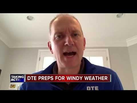 DTE preps for wind advisory in metro Detroit
