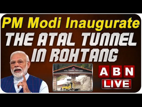 PM Modi inaugurate the Atal Tunnel in Rohtang, Himachal Pradesh | ABN LIVE