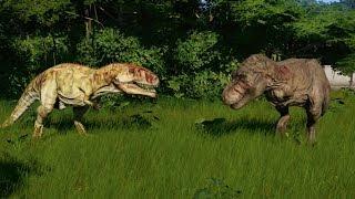 Giganotosaurus VS Tyrannosaurus Rex New Update 1.4 - Jurassic World Evolution