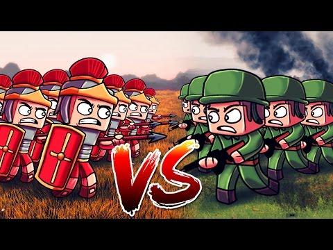 Minecraft   500 WW2 US TROOPS VS 500 ROMAN LEGIONNAIRES! (Massive Mob Battles)