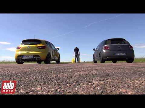 2015 Citroën DS3 Racing vs Renault Clio 4 RS : 200m départ arrêté - Spécial GTi