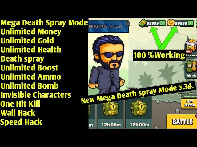 mini militia hack mod death spray mod