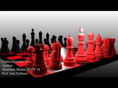 Set de ajedrez | Modelado 3D Básico