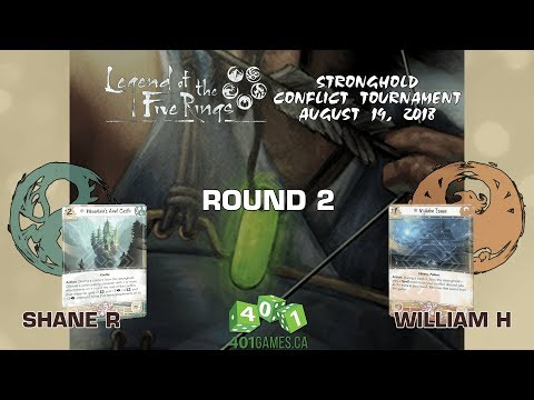 Legend of the Five Rings – Round 2 | S2 Stronghold Conflict #1 2018