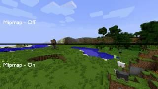 Minecraft Mipmap Off vs On