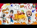 Play Doh Minions Funny Burning Hairs -Playdough and Playmobil kids stop ...