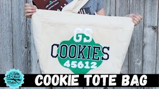 DIY Girl Scout Cookie Delivery Tote Bag