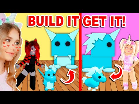 If You BUILD IT You GET IT In Adopt Me! (Roblox)