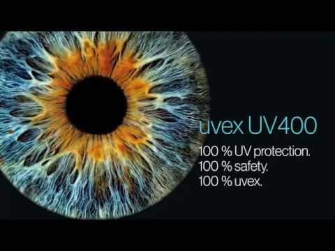 uvex UV400 — 100% protection against UVB and UVA radiation.