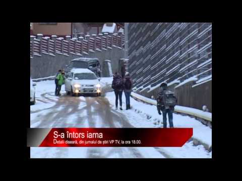 Diseară la știri VP TV: S-a întors iarna