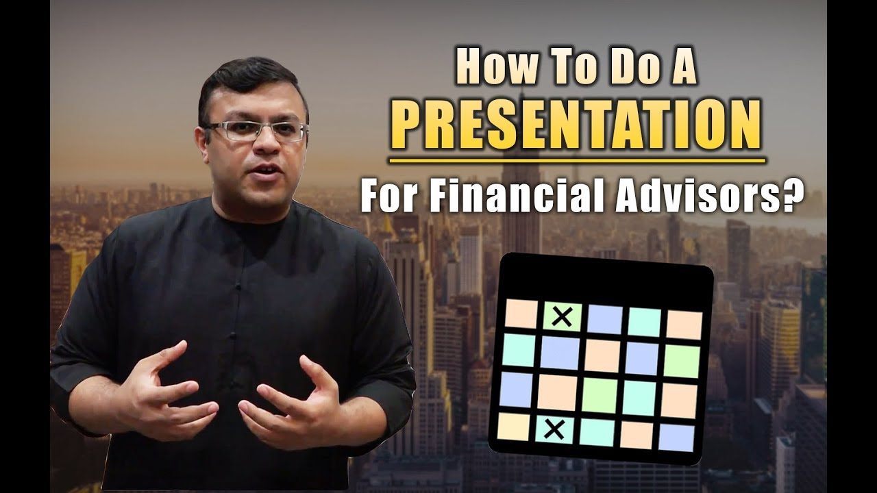 How To Do A Presentation For Financial Advisor | The Presentation Matrix | Dr Sanjay Tolani