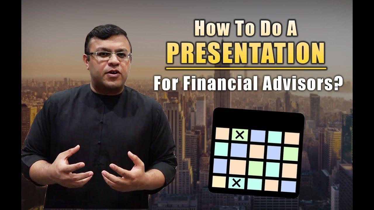 How To Do A Presentation For Financial Advisor | The Presentation Matrix | Dr Sanjay Tolani