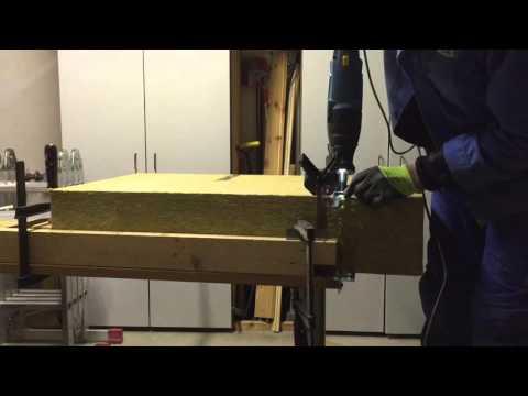Steinwolle und Isolierung schneiden / DIY