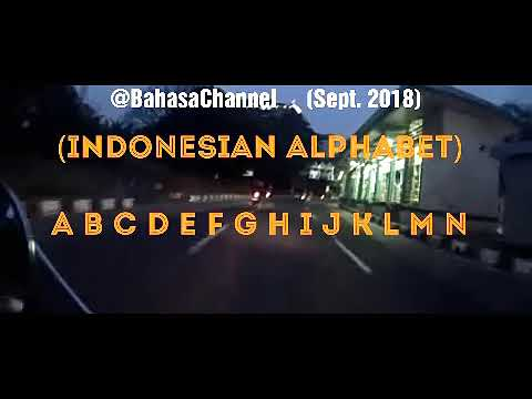Indonesian Alphabet Pronunciation (1st Test Clip)