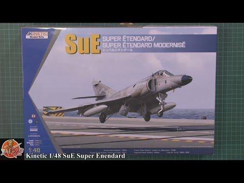 Maquette Avion Super Etendard SuE Kinetic 1:48 Neuf