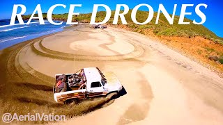 FPV Drone Shredding Baja Race Truck in Baja Mexico