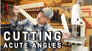 Cutting Extreme Angles on a Miter Saw -  Build An Acute Ange Jig