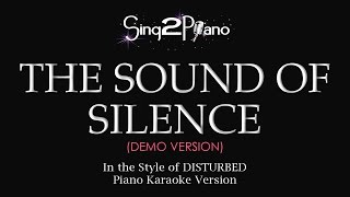 The Sound Of Silence (Piano Karaoke demo) Disturbed