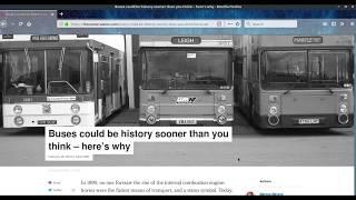 Чтение статьи о будущем рейсовых автобусов с TheConversation