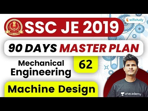 3:00 PM - SSC JE 2019-20 | Mechanical Engg. by Neeraj Jangid | Machine Design #19