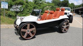 WhipAddict: White VW Dune Buggy 4 Seater On Rose Gold DUB Baller 26s With Custom Seats!