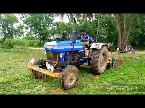 Powertrac 445 DS plus ploughing | Powertrac 445 DS plus Tractor videos | All IN All