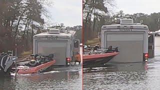 Dalmatian Accidentally Sends RV Into Lake