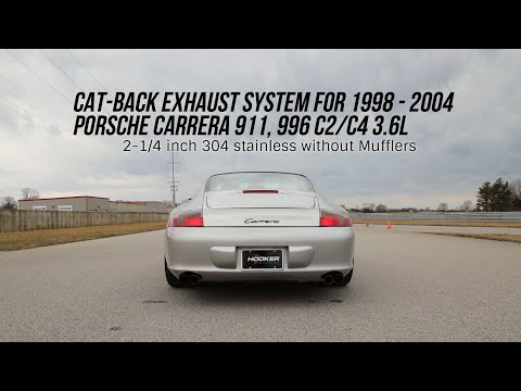 Porsche 996 98-04  - Carrera 911 Cat-back without Mufflers