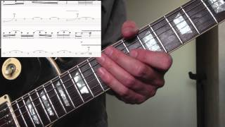 preview picture of video 'Guitar Lesson - Dm Blues lick using Blues scale'