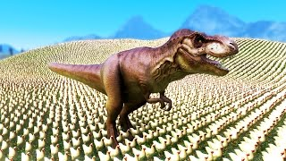 GIANT T-REX CRUSHES CHICKENS - UEBS - Ultimate Epic Battle Simulator