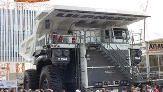 preview picture of video 'Giant Liebherr T264 Mining Truck Demo @ Bauma 2013'