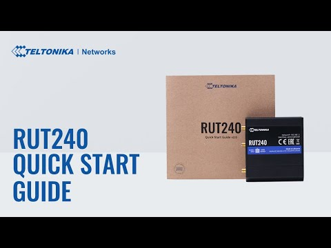 RUT 240 quick start guide