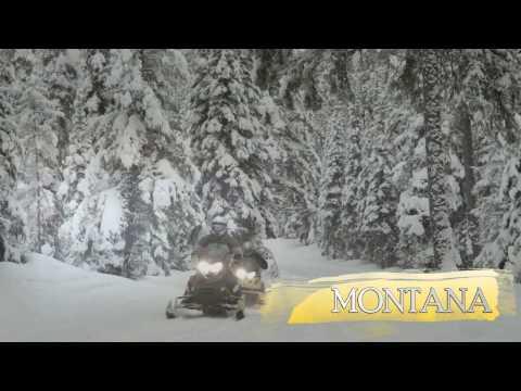 Snowmobile Glacier Country