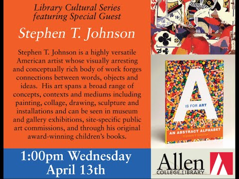 Library Cultural Series featuring Special Guest Stephen T. Johnson