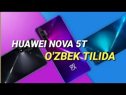 HUAWEI NOVA 5T -O'ZBEK TILIDA !!!!