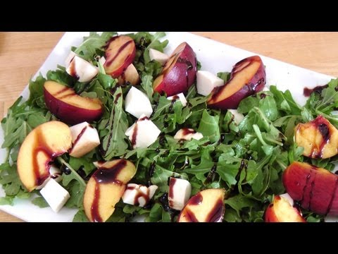 Grilled Peach and Smoked Mozzarella Salad – Laura Vitale – Laura in the Kitchen Ep 171