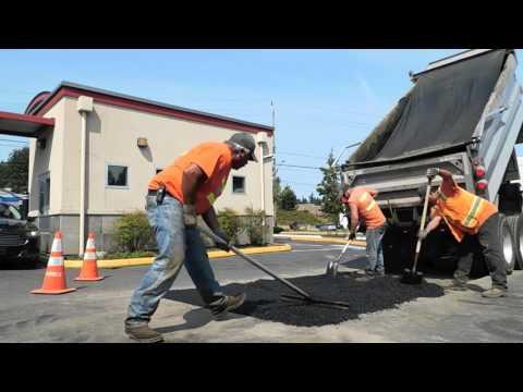 Rainier Asphalt & Concrete asphalt patching promo