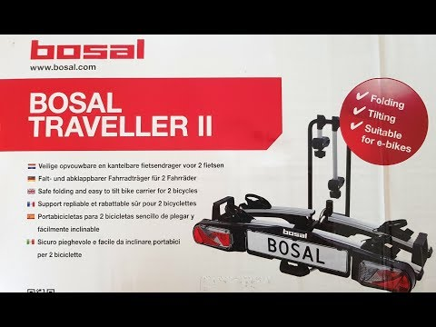 E Bike Fahrradträger für die Anhängerkupplung im Test Bosal Traveller II Fahrradtraeger klappbar