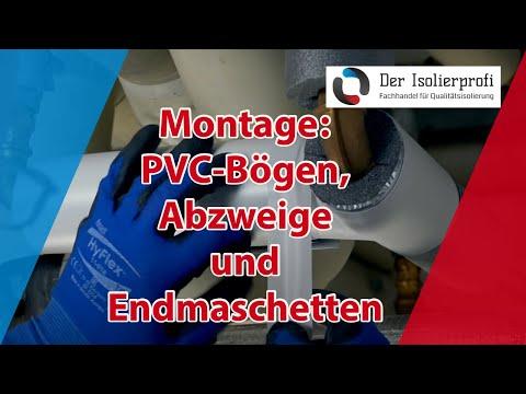 Montage der PVC Formteile, Bögen, Abzweige, Endmanschetten